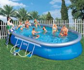 Bestway 18ft x12ft x 48in Oval Fast Set Above Ground Garden Pool